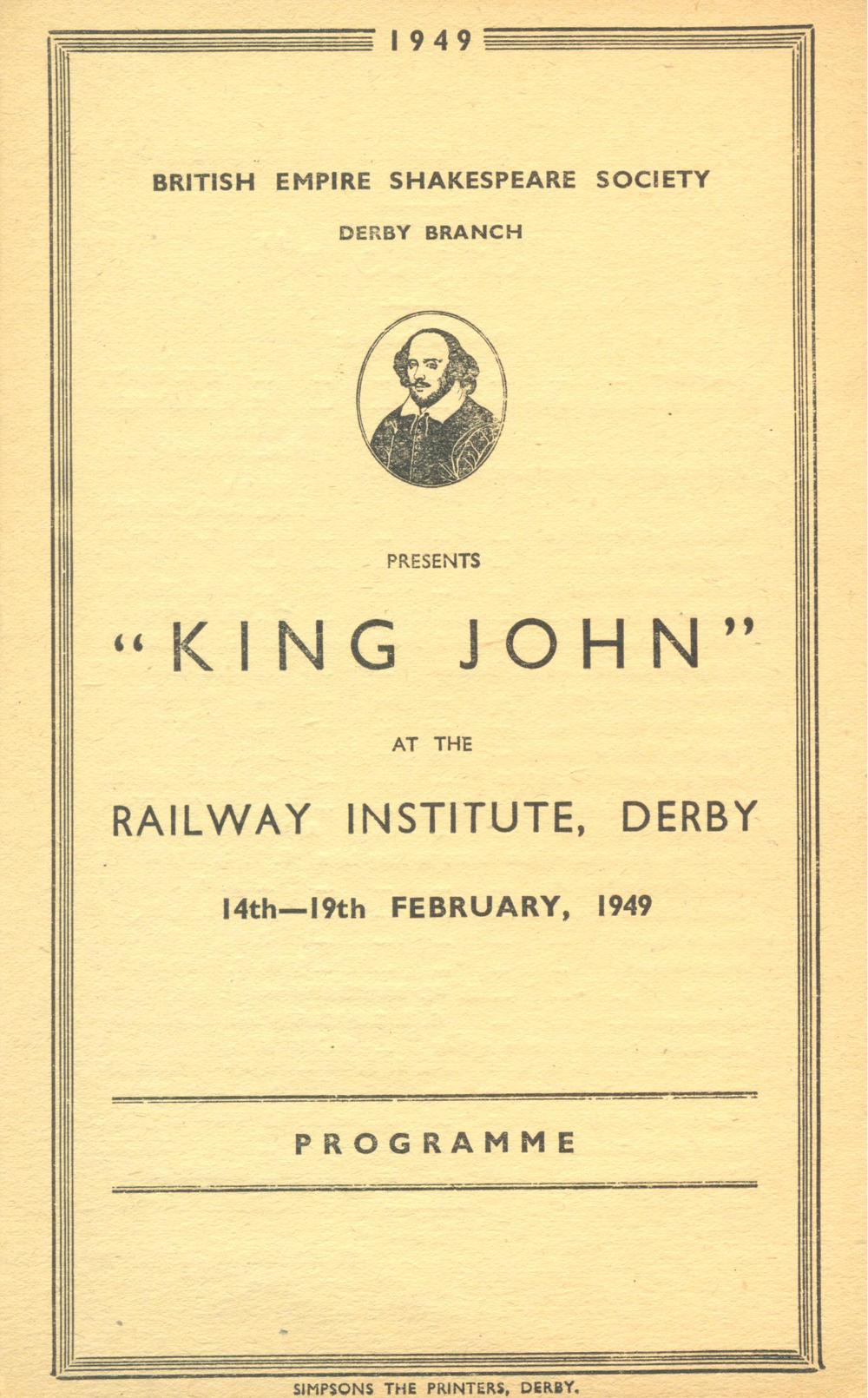 'King John' 1949