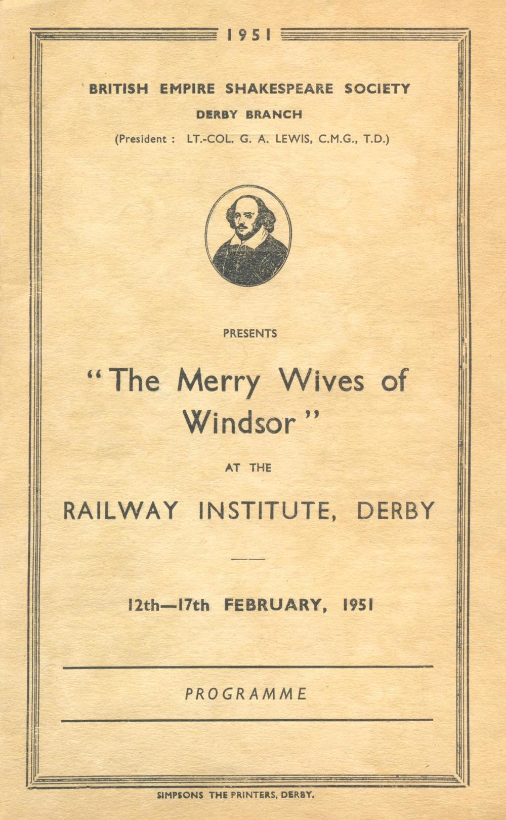 'The Merry Wives Of Windsor' 1951