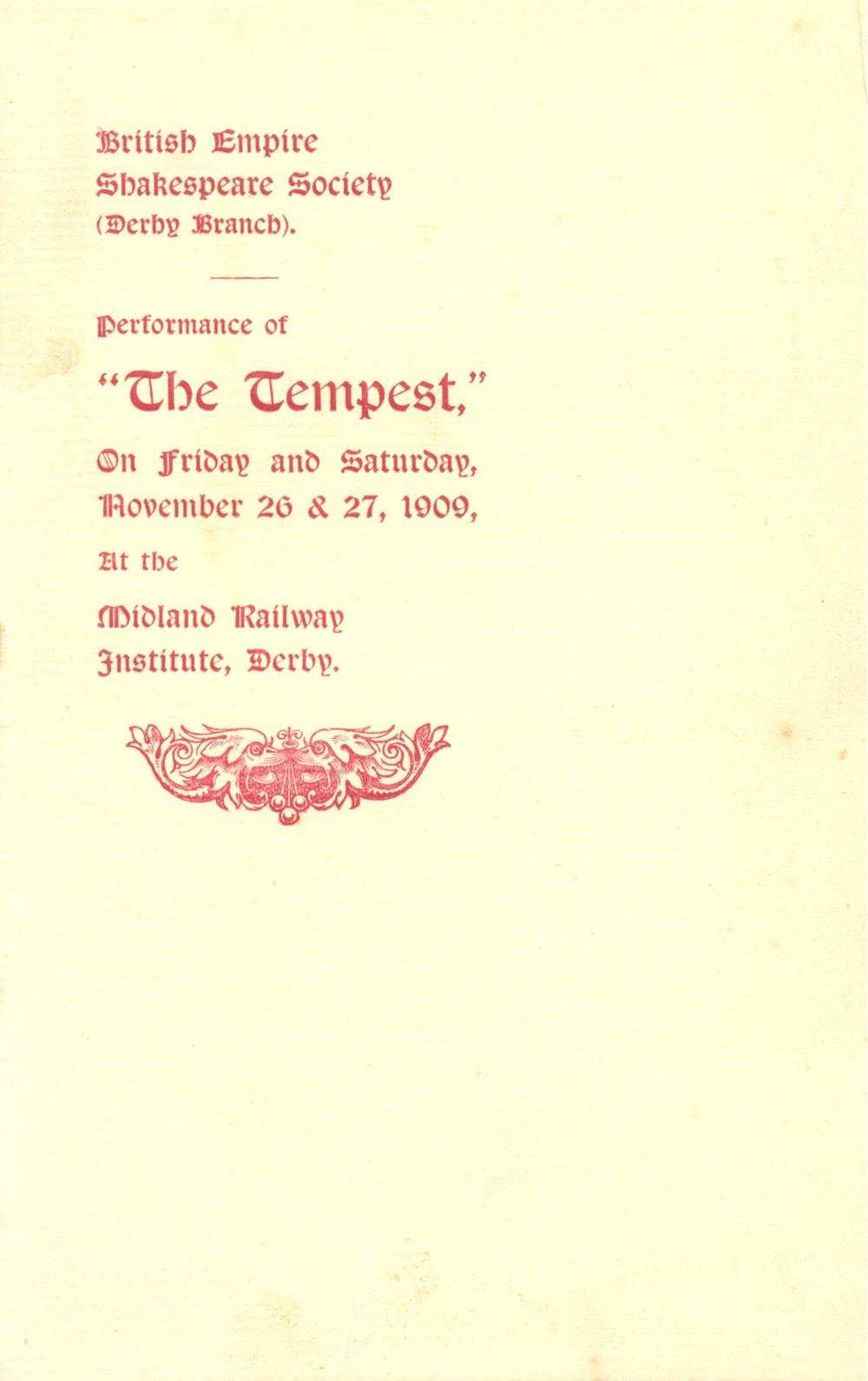 'The Tempest' 1909