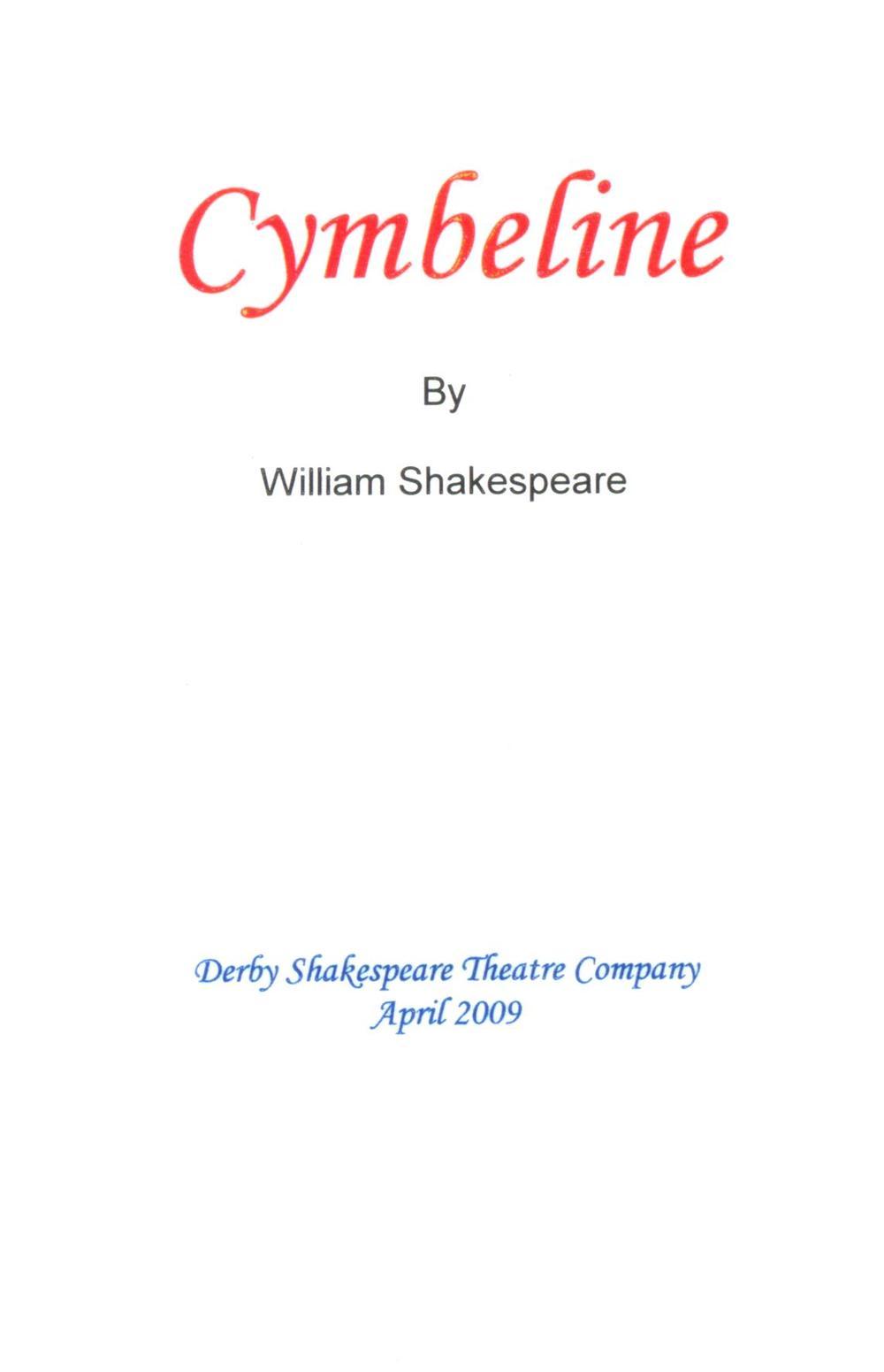 'Cymbeline' 2009