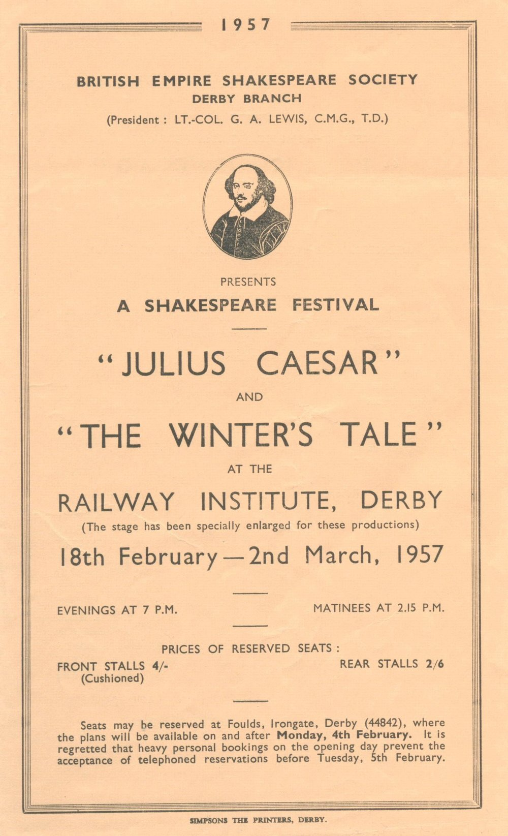 'Julius Caesar' & 'The Winter's Tale' 1957