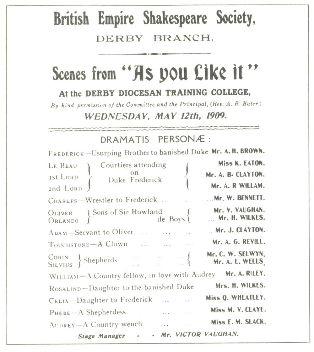 'As You Like It' (Scenes) 1909