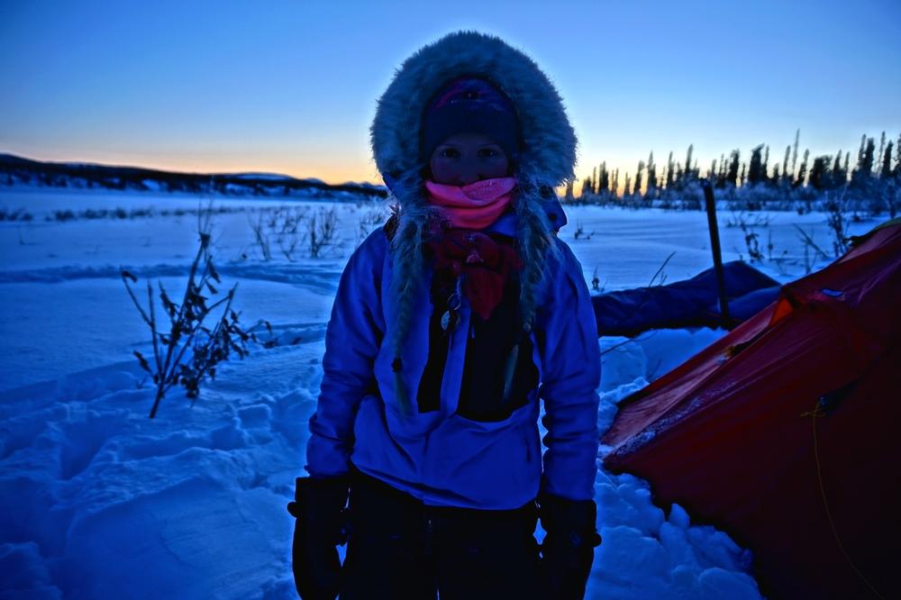 I Alaska fikk vi oppleve den arktiske kulden, og på det meste hadde vi ned til nesten -50 grader en svært hustrig natt. Foto: Moa Hundseid