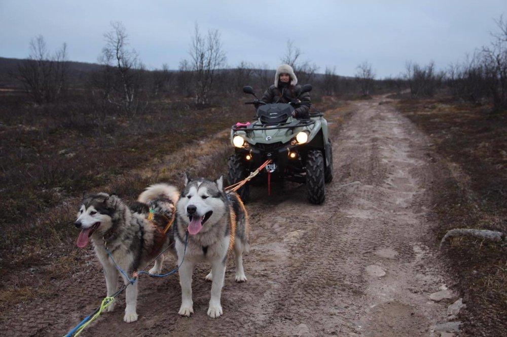 ATV er god trening høsttider for å forberede sledesesongen.