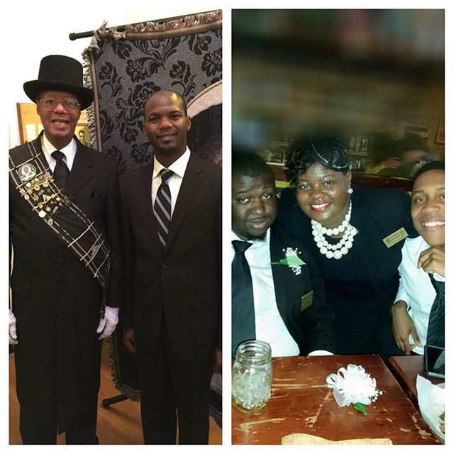 I forgot to post this yesterday but it was #nationalbossday S/o to my bosses!!! Rev. Charlie Murray and Lady Chardale Murray (brother and sister) lol