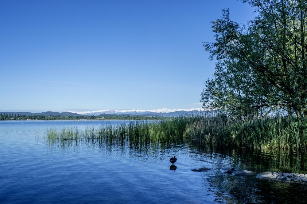 ..und der wunderschöne Lago di Varese mit dem Monte Rosa Massiv