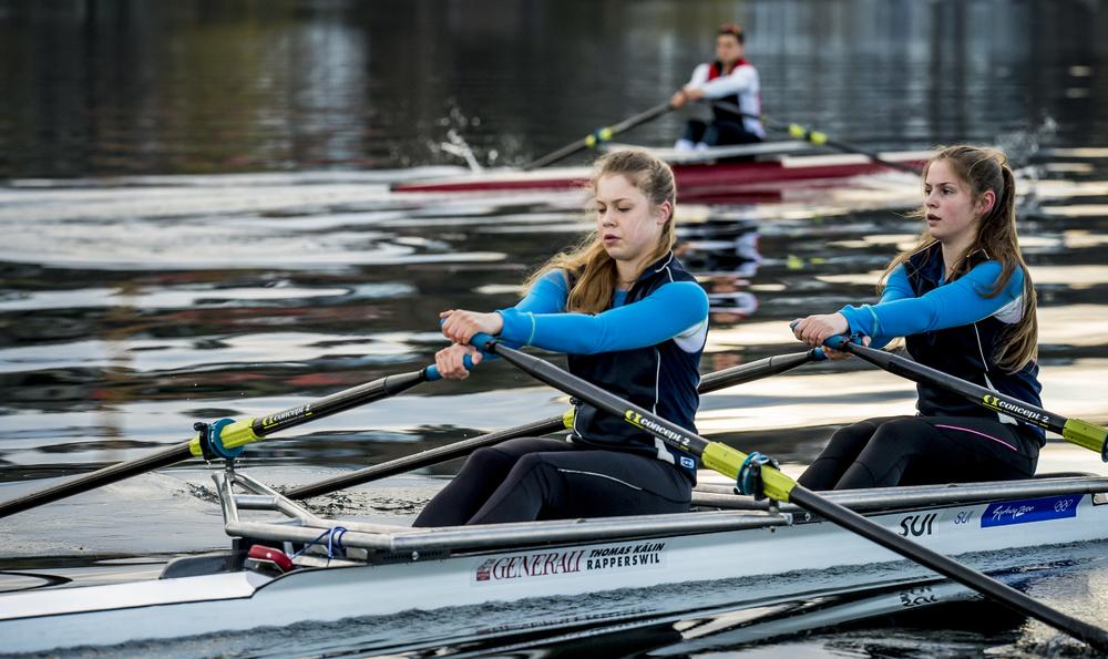 Das Juniorentraining im Doppelzweier und im Skiff