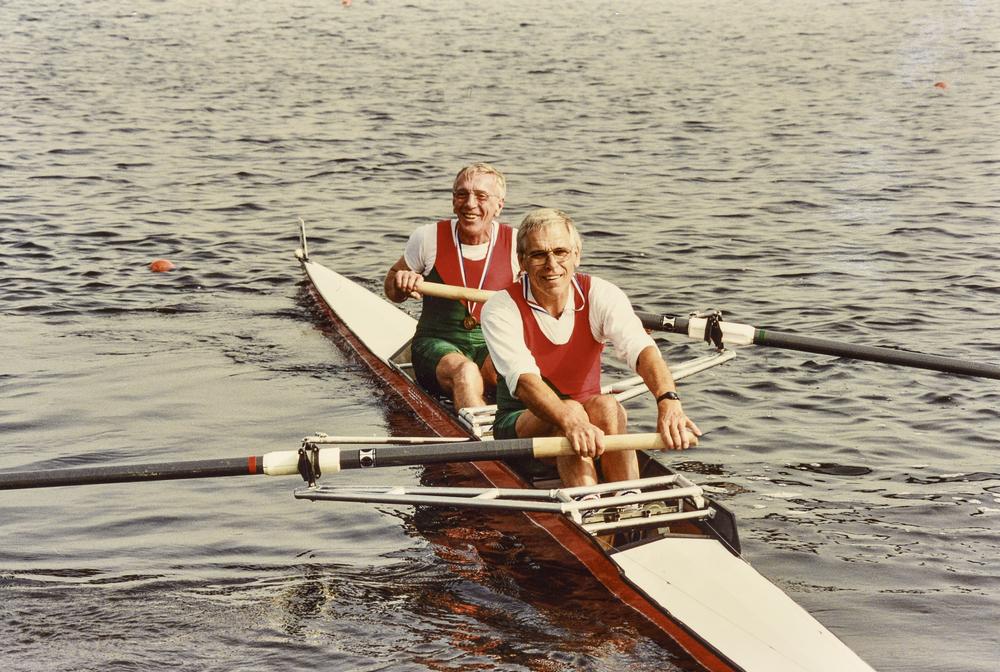 und mit Walter Süssle in München, Walti und Waldi das Dreamteam, gewann zahllreiche Rennen, national und international und galt als uneinnehmbare Festung im Rudersport.