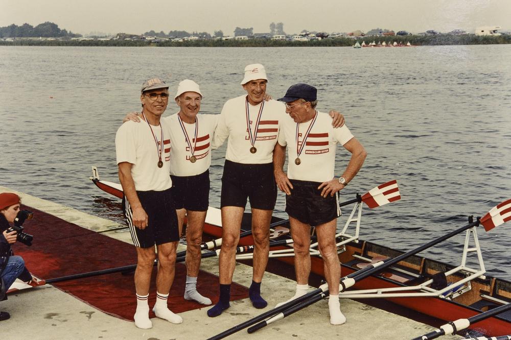 1994, Sieg für den Vierer in Groningen (Proti, Granacher; Suessle, Künzler)
