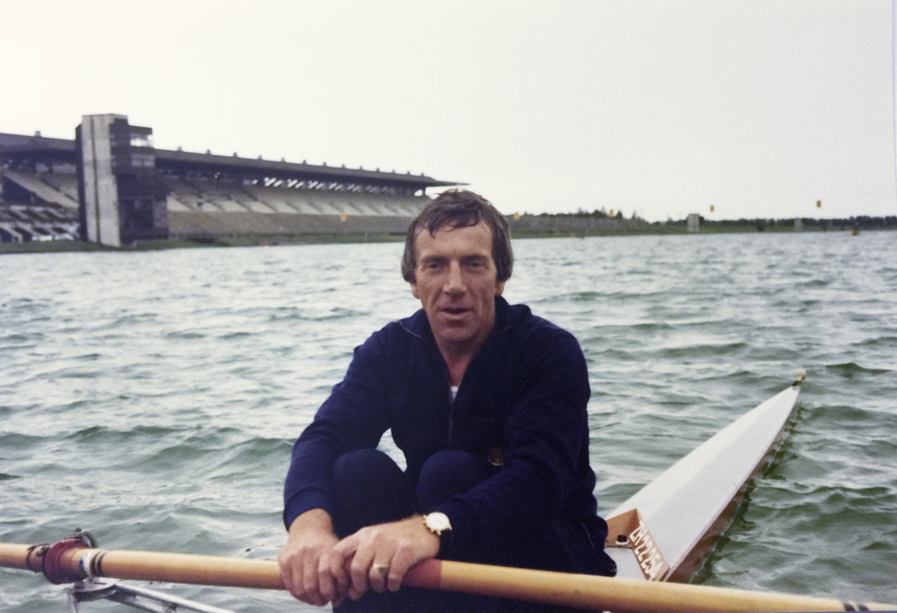 1978 an der Veteranen Regatta in München im Skiffboot