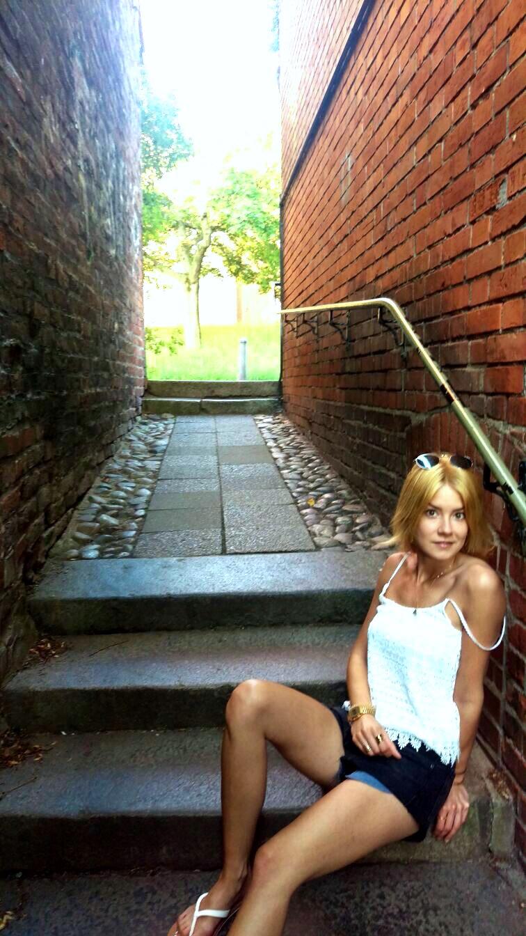 Narrow alleys of Lübeck.