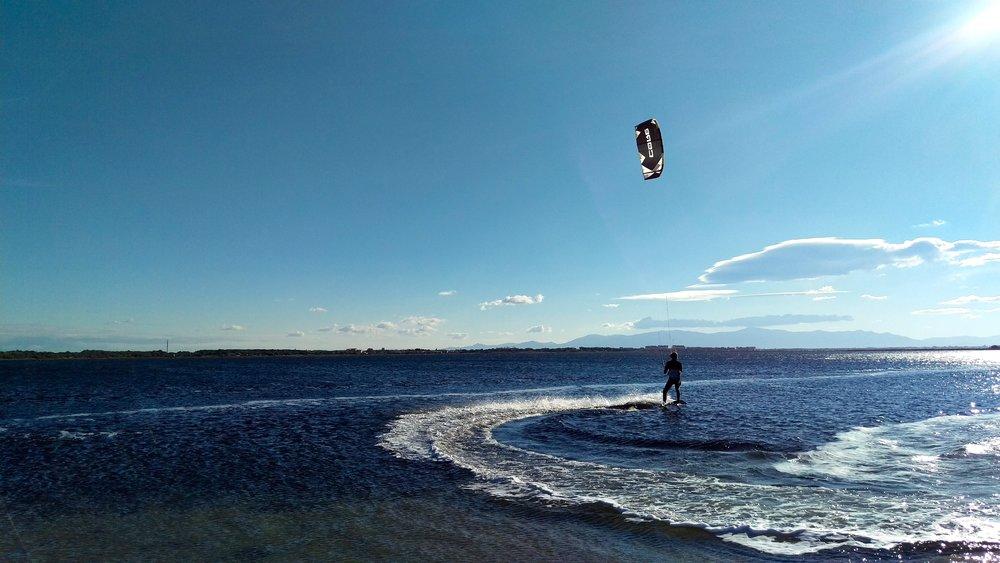 Kitesurfing in Leucate...