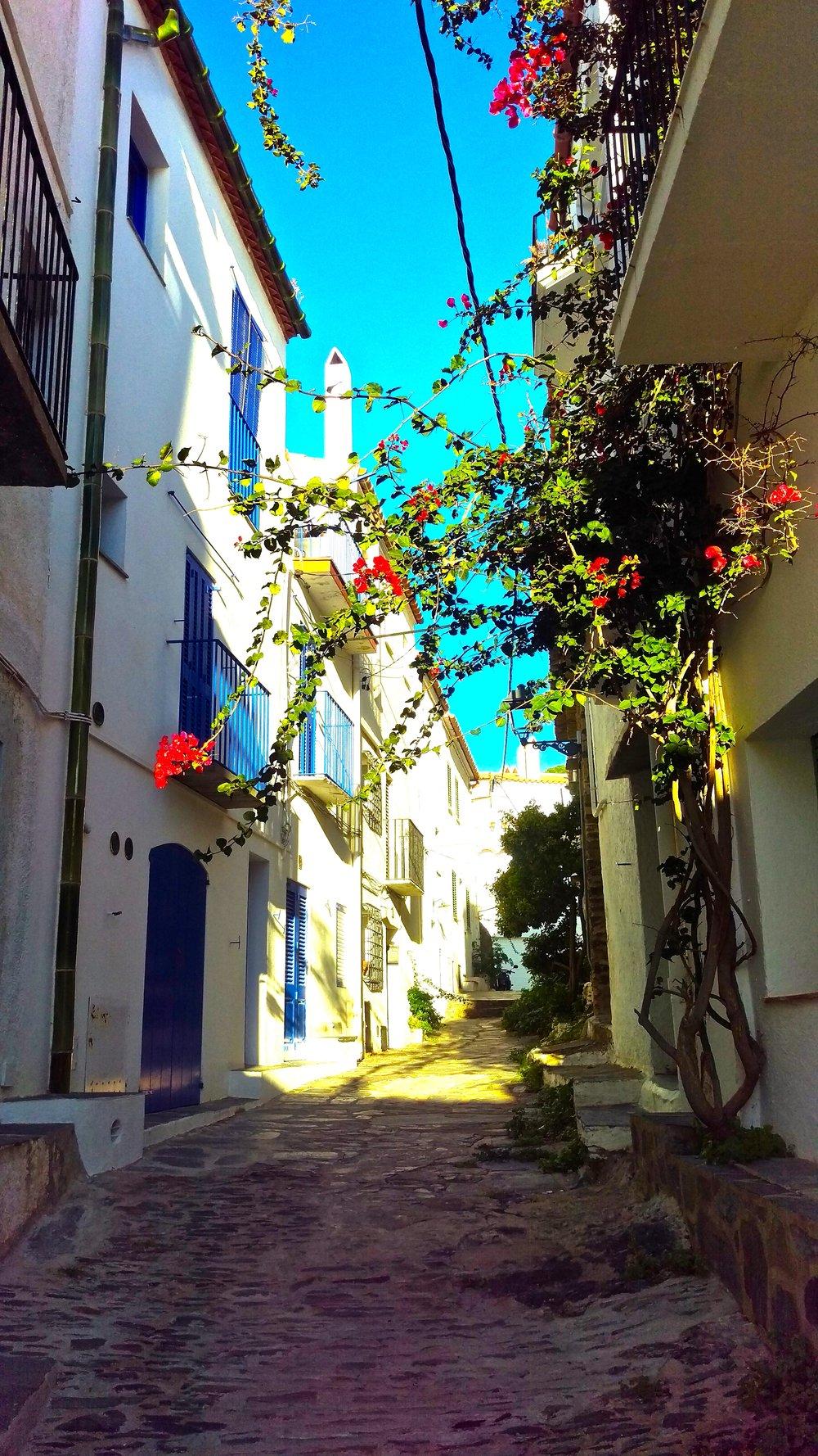 Bloomy streets of Cadaqués