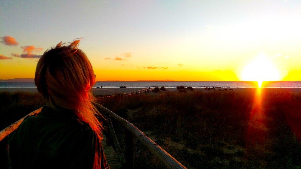 Sunset at Playa de Los Lances