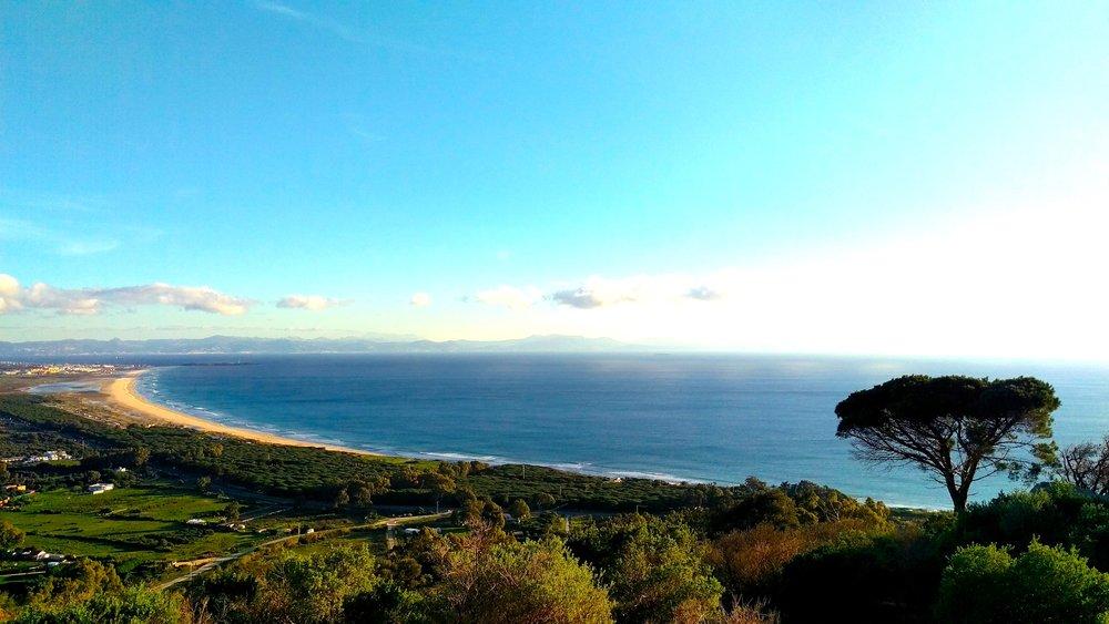 View of the Atlantic coastline