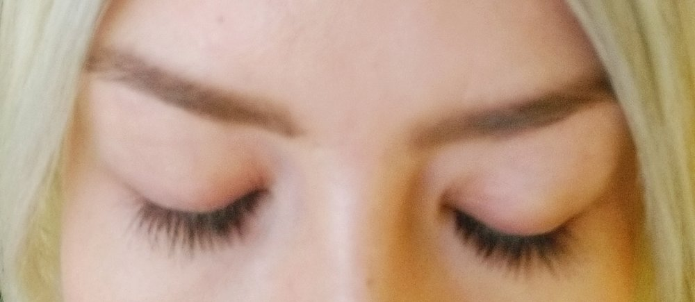 My lashes- without any mascara at all.