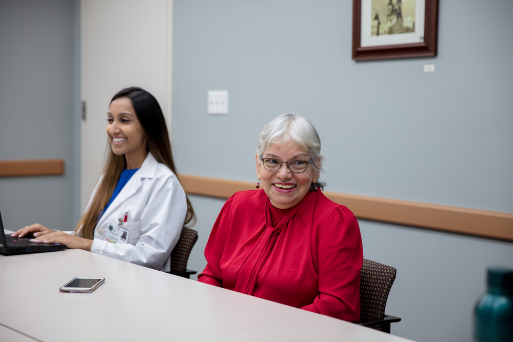 Nilda and her doctor