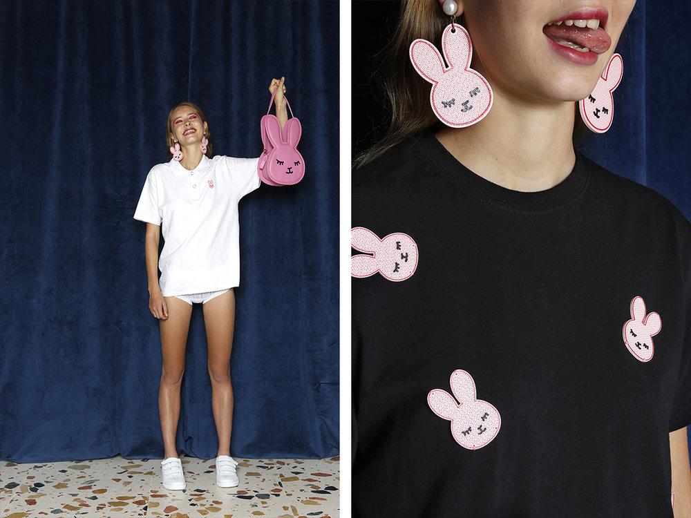 BECOMELY - The Bunny Collection | Samenwerking, de konijnen zijn gemaakt van PLA door middel van 3Dprinten - Foto's door: María de Miguel
