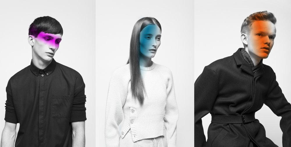 Campaign I | Honest by Bruno Pieters  | Het concept is 'Who over What', Het is belangrijker wie er in de kleding zit, dan welke kleding je draagt. Daarom worden de modellen uitgelicht door middel van kleur en zijn de foto's zwart-wit.  Foto's door: Alex Salinas
