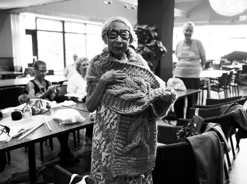 Bij de Rotterdamse Grannies - Foto door:  Milan Boonstra