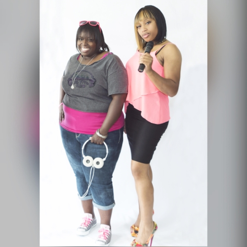 Left to Right: DJ Coco-Z and Mz Lee Lee of Girl Power Radio