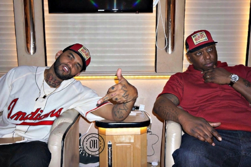 Pictured (left to right) Joyner Lucas and his manager Sha Money XL