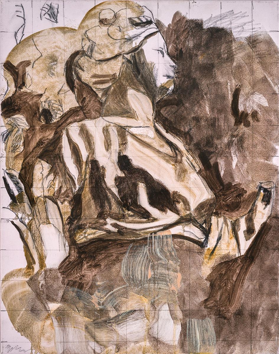 'I woke up floating on hands that shake' 46 x 36 cm