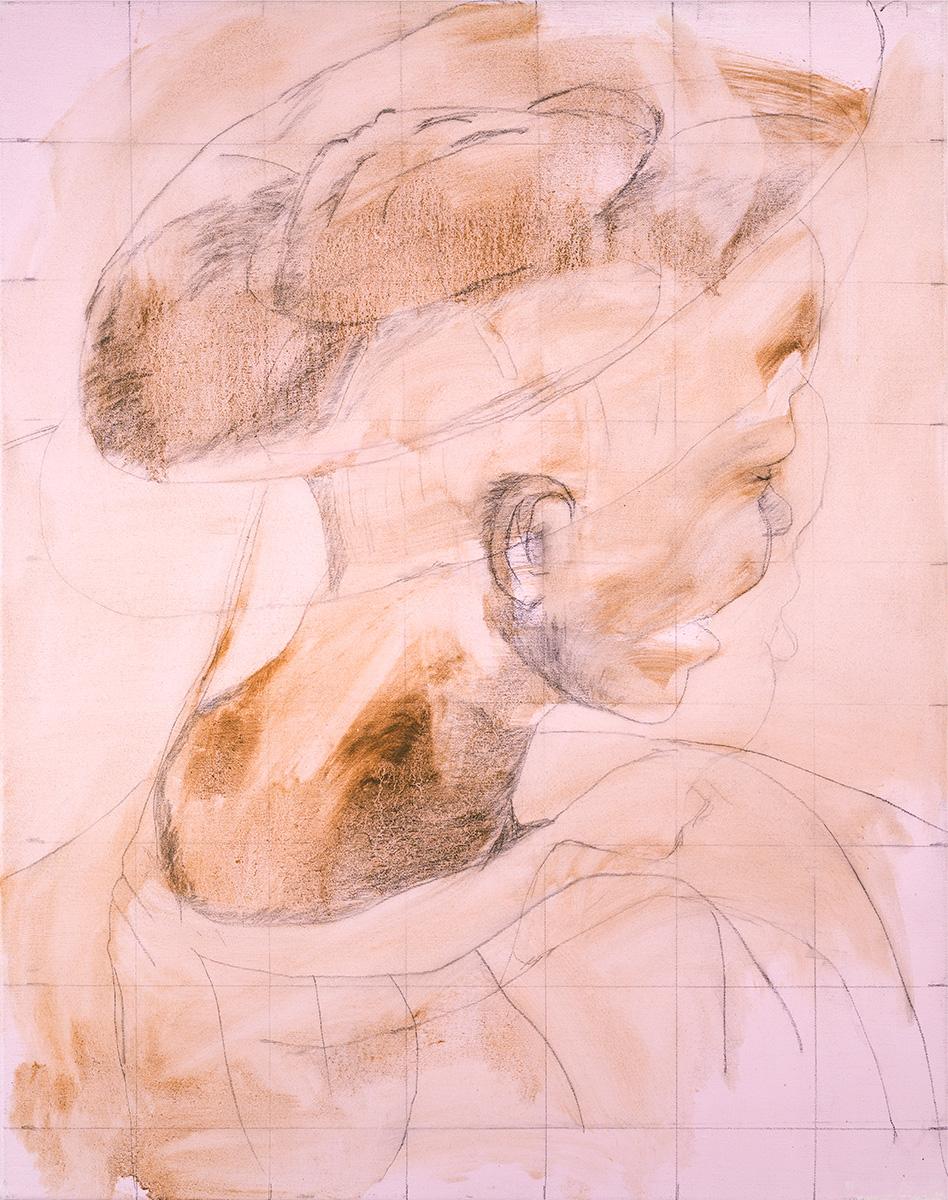 'The lonely Saint' 56 x 46 cm