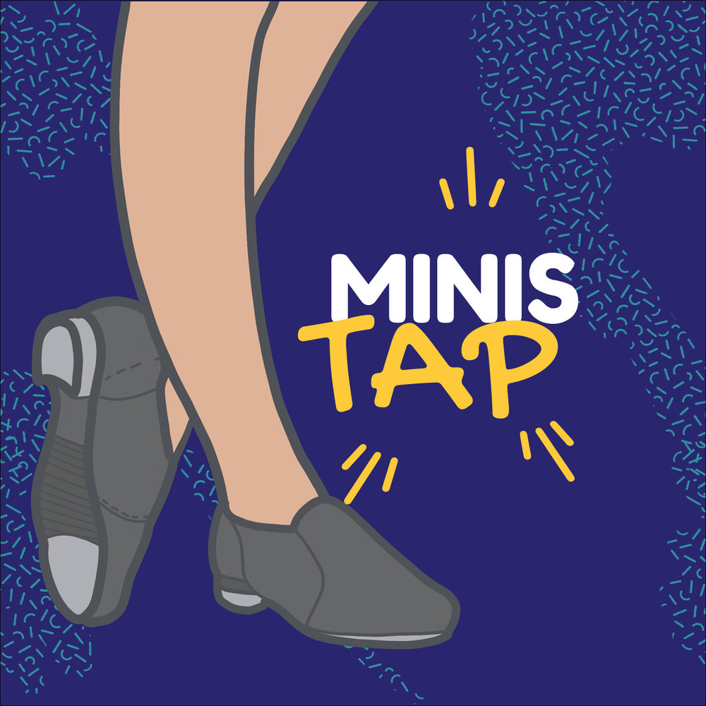 Mini Tap - June 10th - June 28thThursdays 7:30 to 8:15pmJuly 8th - July 26Thursdays 7:30 to 8:15pmAn upbeat introduction to tap! Dancers will learn to find the beat and have an introduction to basic tap technique.Price $41