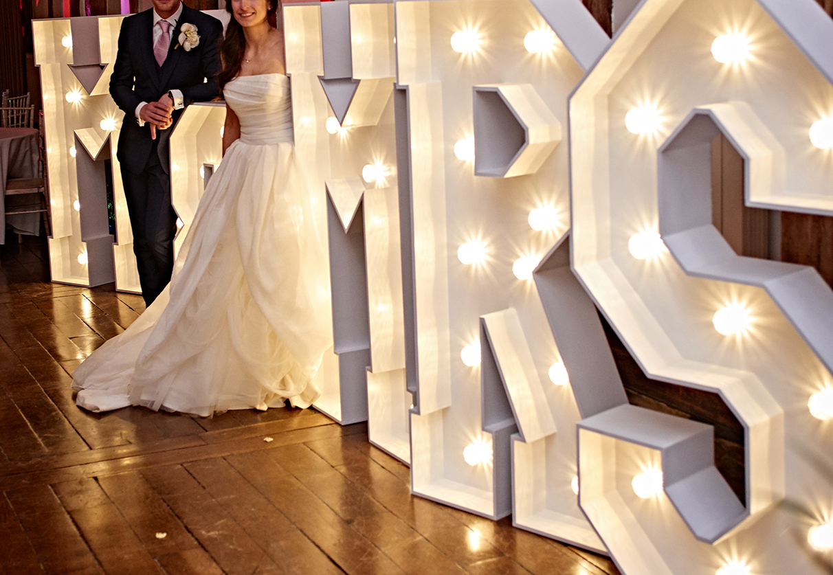 Light up Letters - Giant light up letters for weddings and events in ...