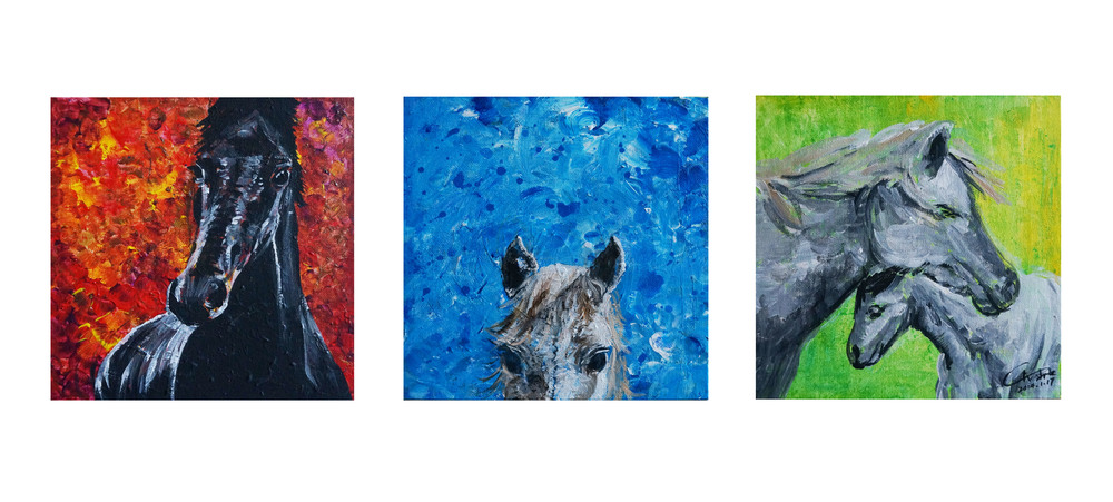 Triptych Horsy