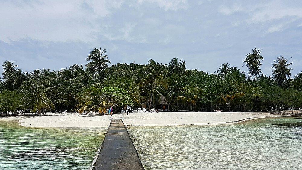 Looking towards the beach bar