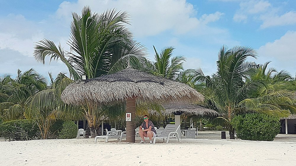 Dhoni bar from the beach
