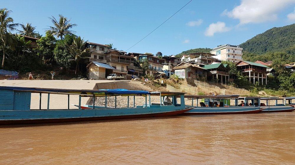 Muang Khua boat dock