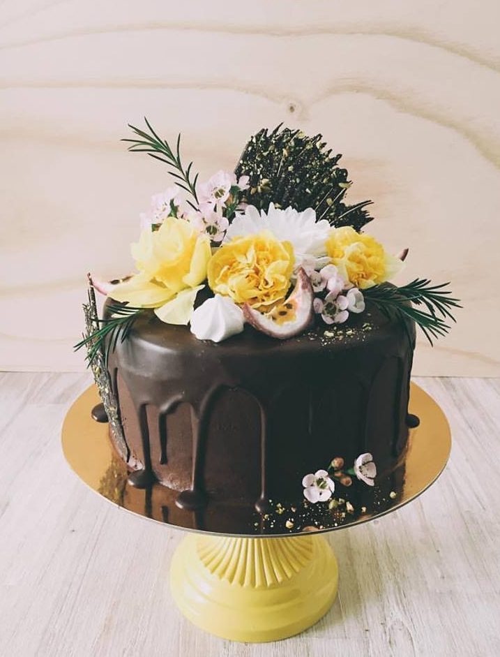 Chocolate & Passionfruit Cake