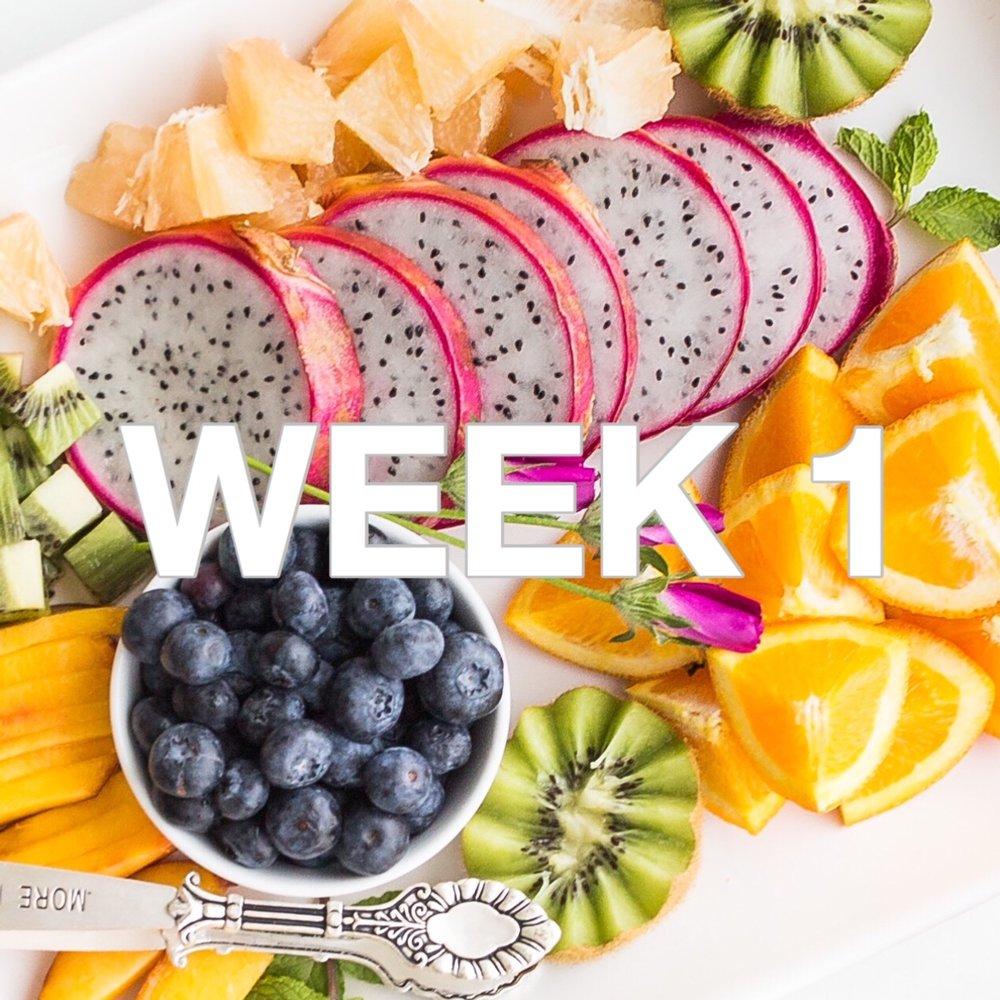 Beautiful Badass Method - Week 1 Menu - Photo by Brooke Lark via Unsplash.com