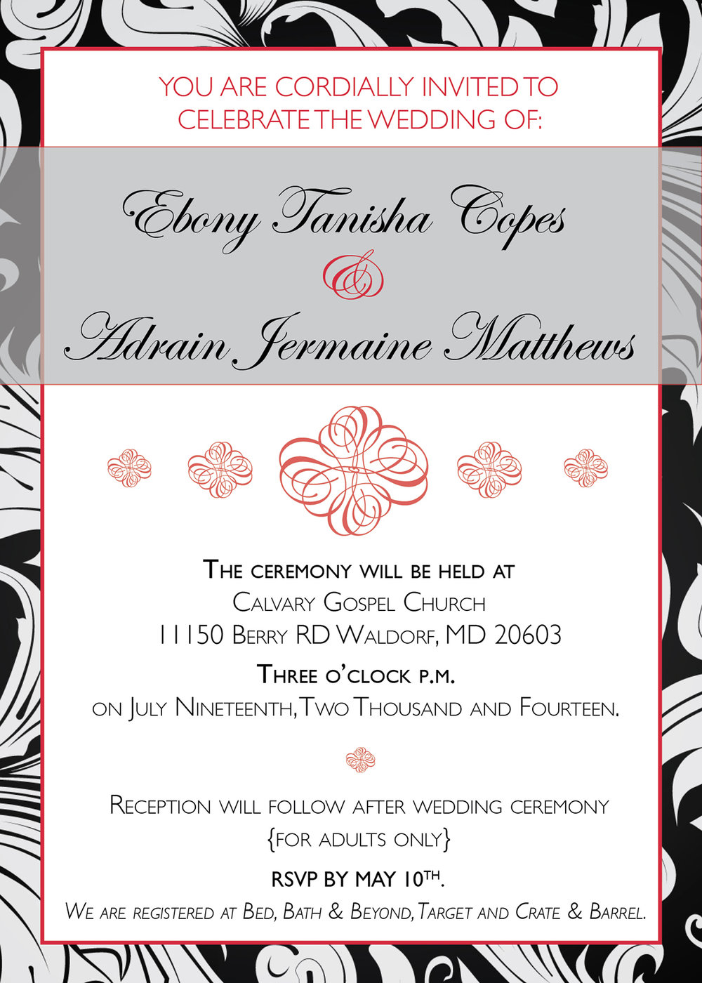 Wedding Invitation - 2014