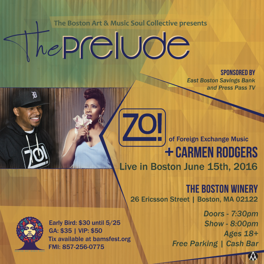 Boston Arts & Music Soul Festival - Prelude Series