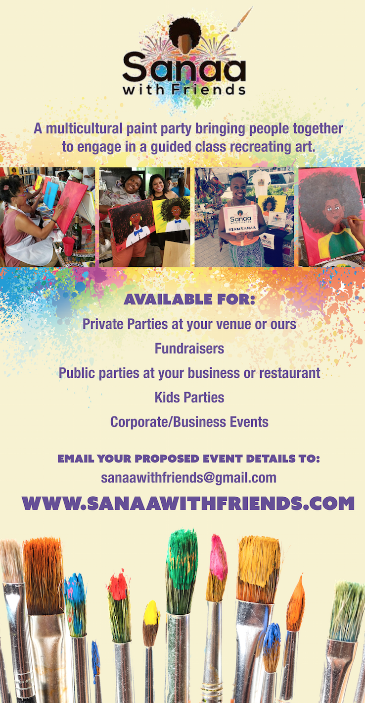 Sanaa With Friends Pull Up Banner 2016