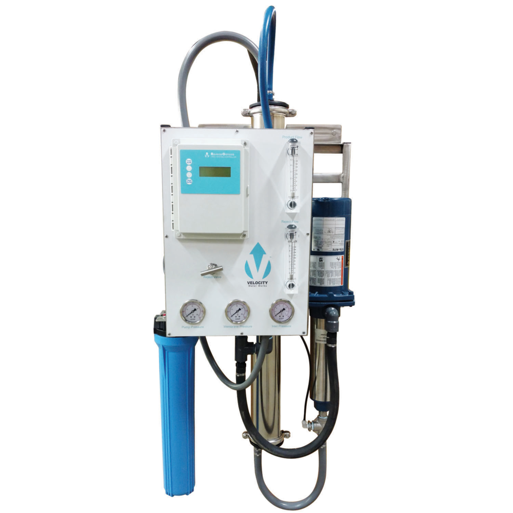 Velocity (VROW-1) 2400gpd Hinged Wall Mount Reverse Osmosis System