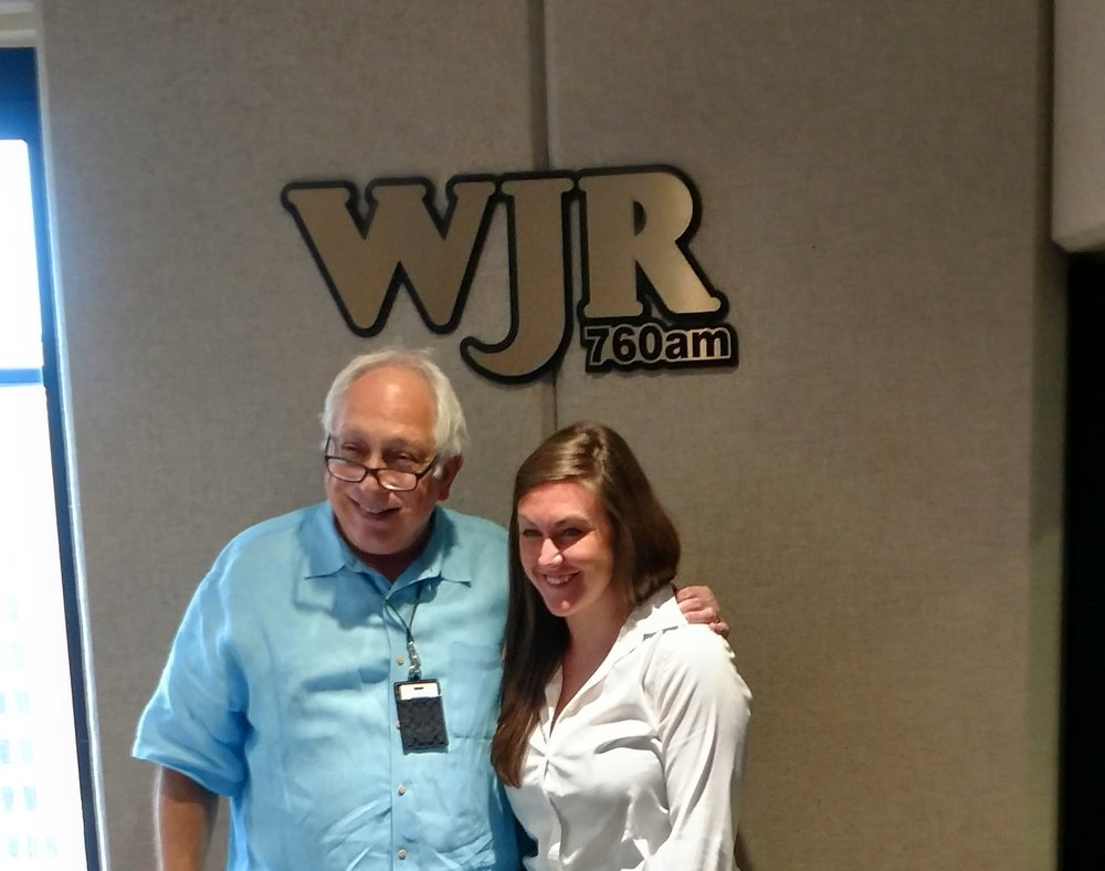 Alissa Novoselick with Paul W. Smith on WJR's Opportunity Detroit.