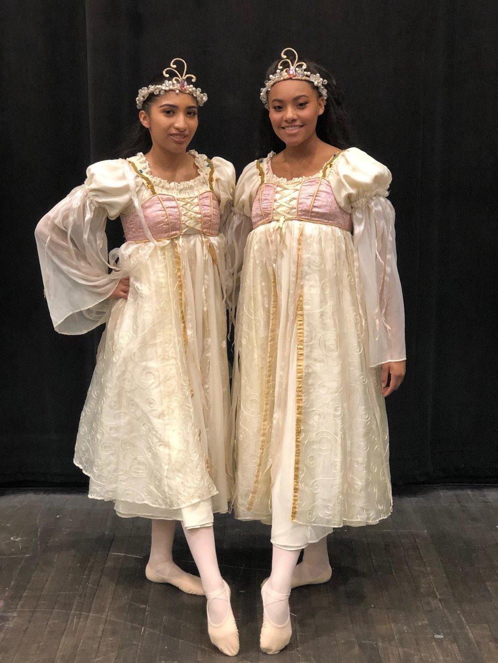 Vanessa Galaviz and Alexis Harris in  The Nutcracker  at the Michigan Opera Theatre.