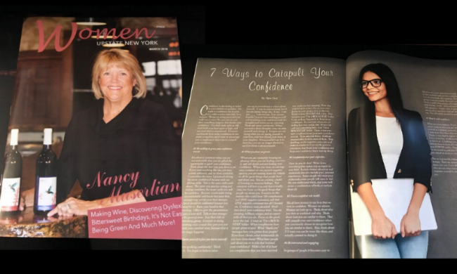 7   Ways to Cata  pult Your Confidence  (Pages 36-37)  Women of Upstate NY Magazine: April 2018 Issue