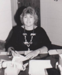 My mom working in her office at UCM. I loved visiting her at work.