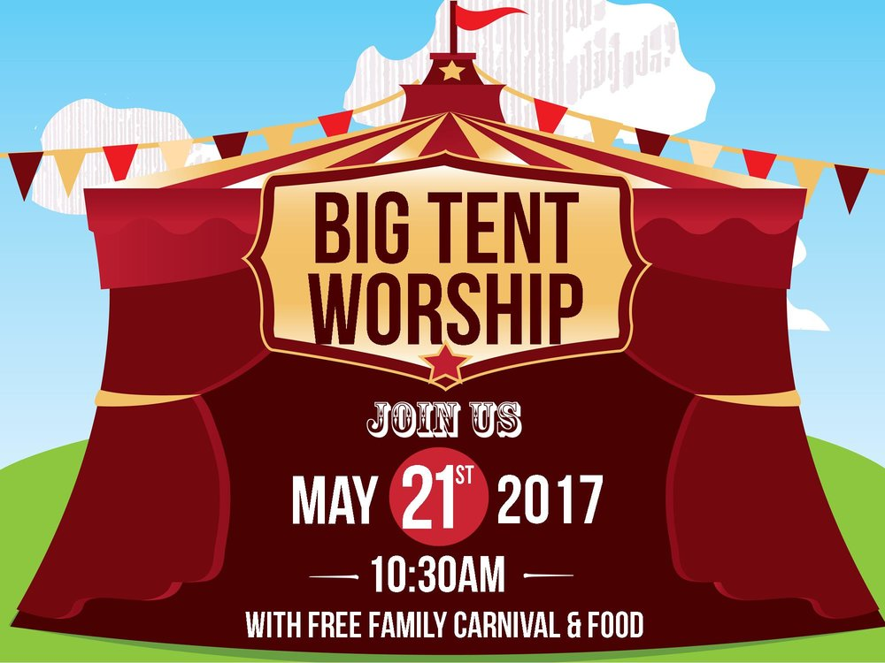 Come worship under the Big Tent at St. Paul's on May 21 at 10:30am! On this special day, Grand Lake Church wants to recognize all of our Creative Discovery Preschool students. After worship, stay for a fun family carnival with free food, bounce house, giant slide, face painting, balloons, games, prizes and more. You don't want to miss this end of the school year celebration!