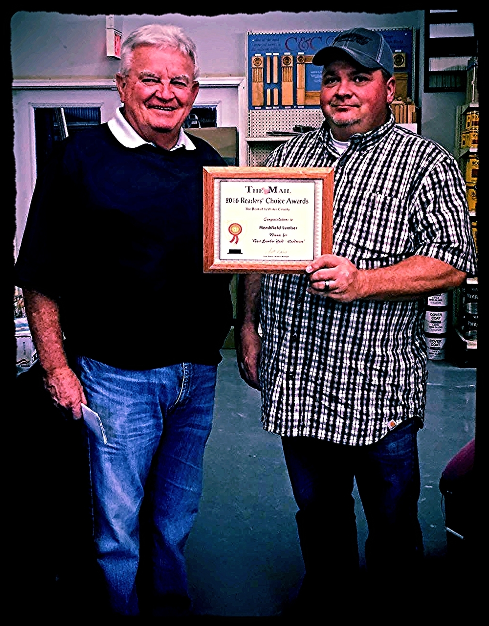 Marshfield Lumber Readers Choice Award.JPG