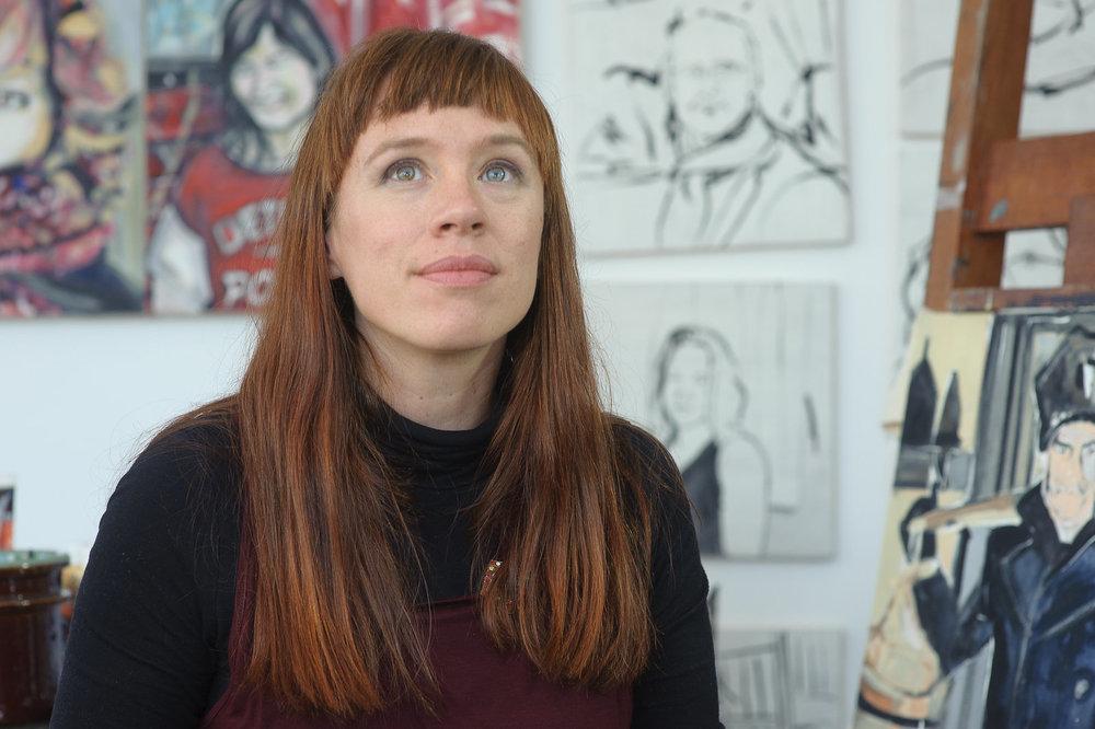 Melanie Janisse Barlow, artist. (Photograph Syx Langemann)