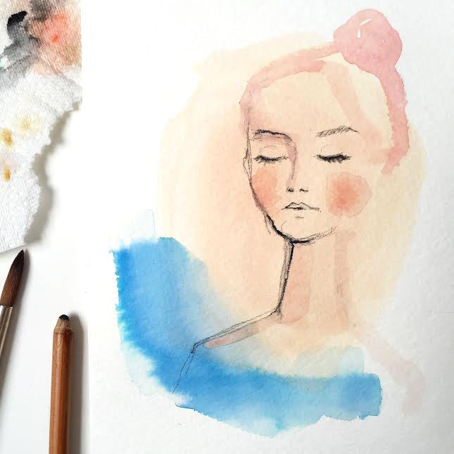 watercolor lady
