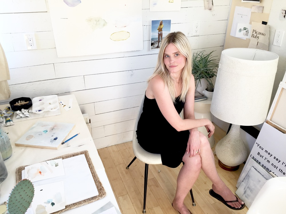 Lindsay King in her studio