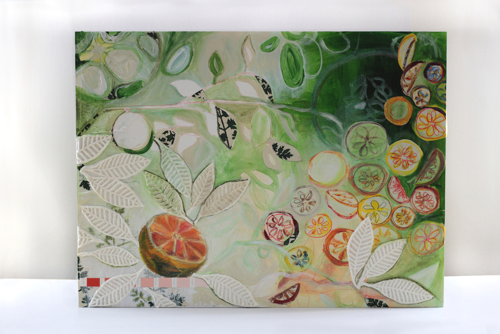 Seasonal Grapefruit, original art by Mary Jo Major.